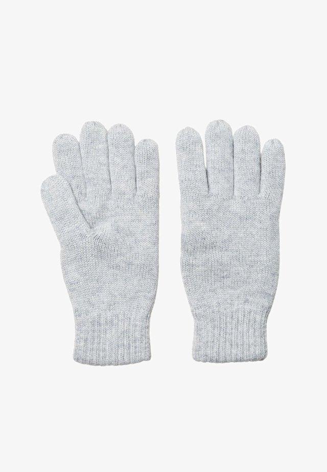 Gloves - light grey melange