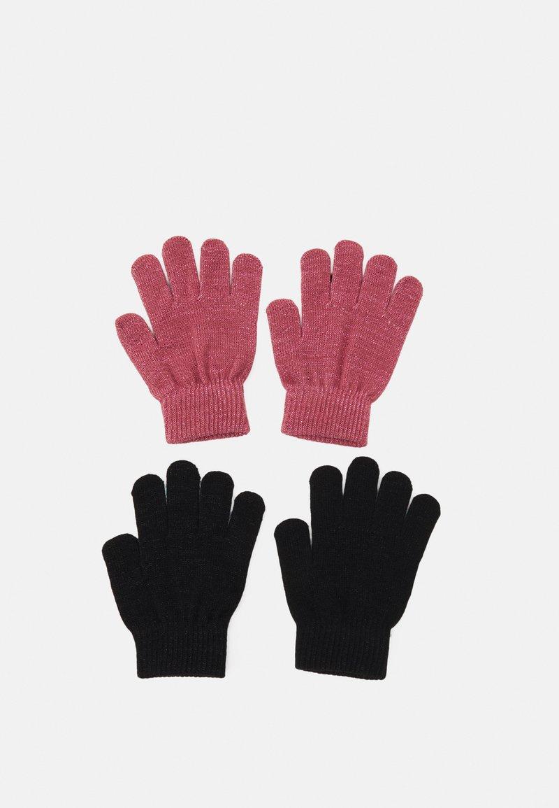 Name it - NKFMAGIC GLITTER GLOVES 2 PACK UNISEX - Gloves - deco rose