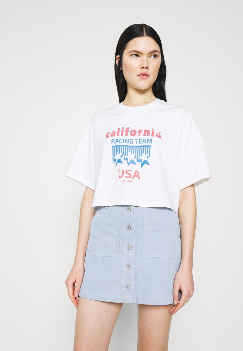 Abrand Jeans - OVERSIZED VINTAGE - Print T-shirt - white sand