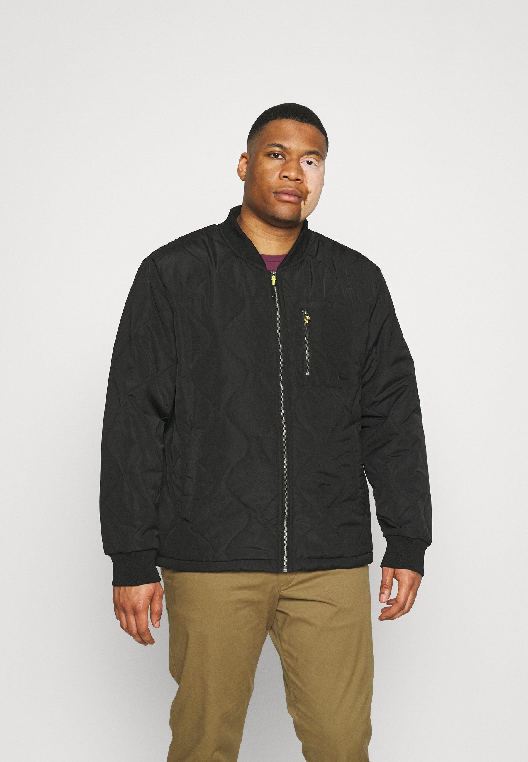 Men QUILTED CONTRAST JACKET - Light jacket