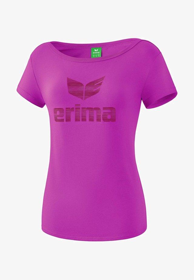 ESSENTIAL T-SHIRT DAMEN - Print T-shirt - fuchsia/red