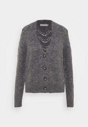 PCBIBI CARDIGAN - Strickjacke - dark grey melange