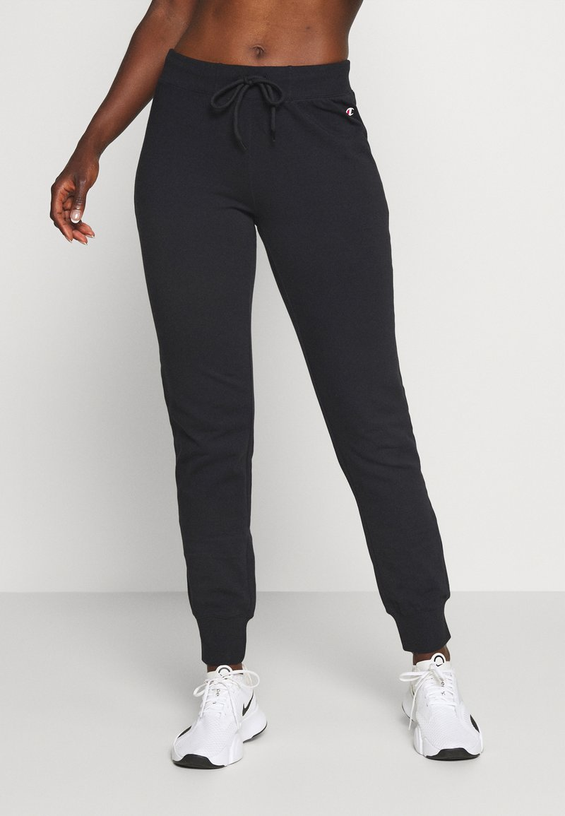 Champion - ESSENTIAL CUFF PANTS LEGACY - Tracksuit bottoms - black
