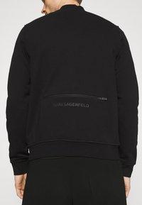 KARL LAGERFELD - ZIP JACKET - Felpa con zip - black - 3