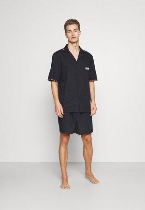 SHORT BUTTON UP - Pyjamas - black