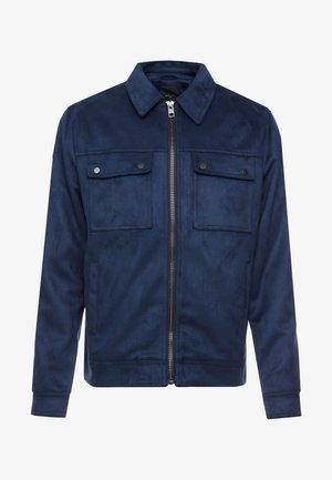 SHACKET - Faux leather jacket - navy