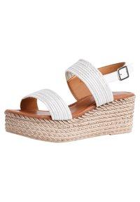 Jana - Platform sandals - white/silver - 2
