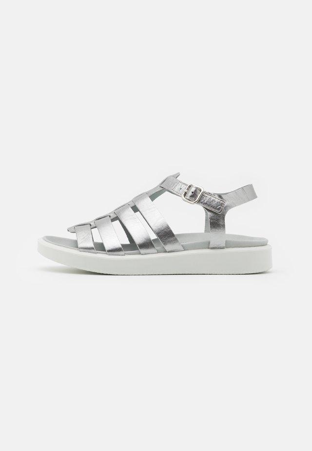 FLOWT  - Sandaalit nilkkaremmillä - alu silver droid