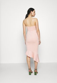 Miss Selfridge - PEPLUM MIDI DRESS - Cocktail dress / Party dress - blush - 2