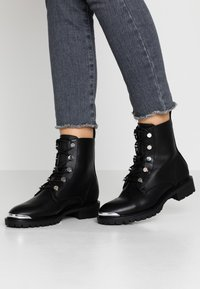 Even&Odd - Bottines à lacets - black - 0