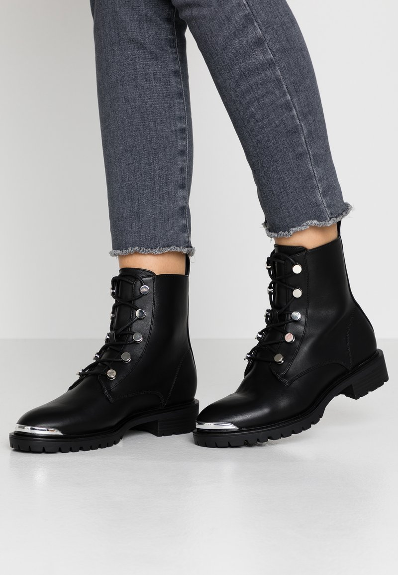 Even&Odd - Bottines à lacets - black