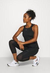 Nike Performance - ELASTIKA TANK - Tekninen urheilupaita - black/silver - 1