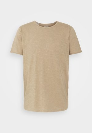 SLHMORGAN O-NECK TEE - T-shirt - bas - petrified oak