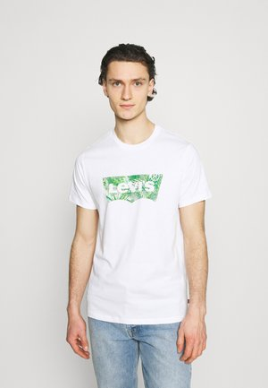 HOUSEMARK GRAPHIC TEE UNISEX - Print T-shirt - fill white