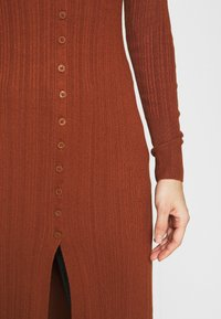 Abercrombie & Fitch - DUSTER CARDIGAN - Gilet - tortoise shell brown - 5