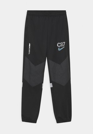 CR7 DRY PANT - Tracksuit bottoms - black/white/iridescent