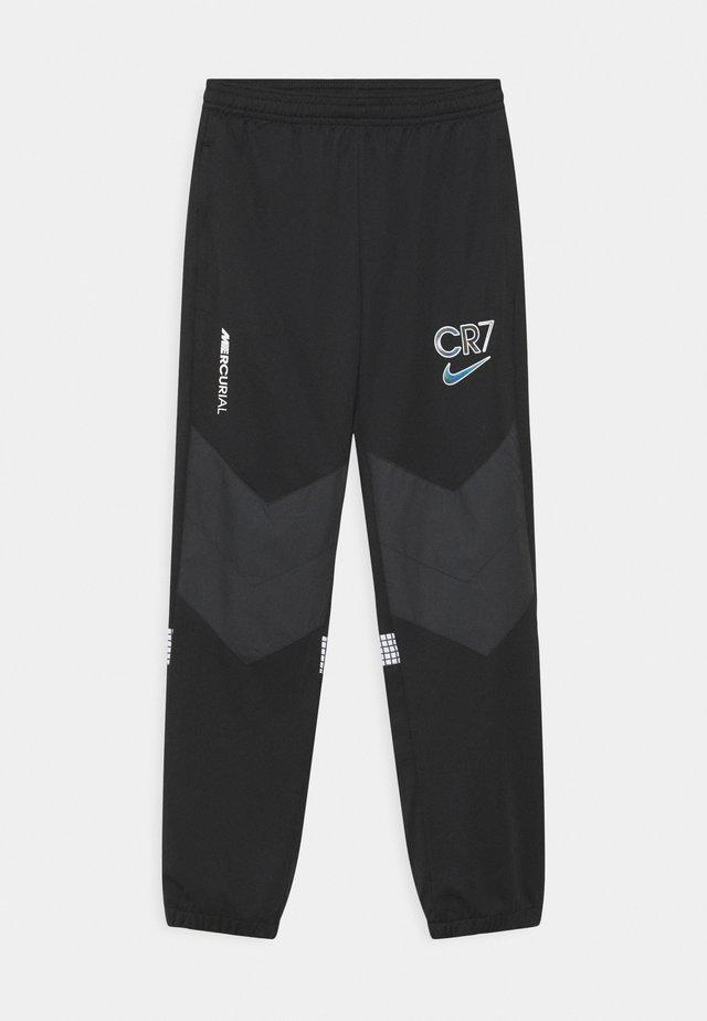 CR7 DRY PANT - Träningsbyxor - black/white/iridescent