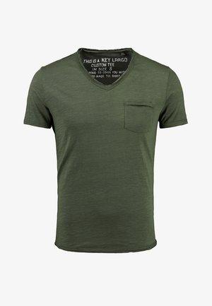MT WATER - Basic T-shirt - kambaba olive