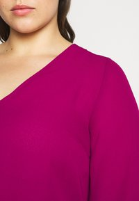 CAPSULE by Simply Be - ZIP FRONT BLOUSE - Blouse - magenta