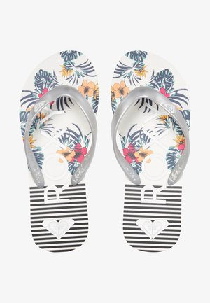 TAHITI - Pool shoes - white/silver