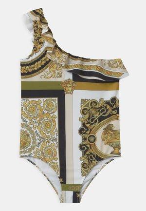 BAROCCO MOSAIC - Swimsuit - white/gold/kaki