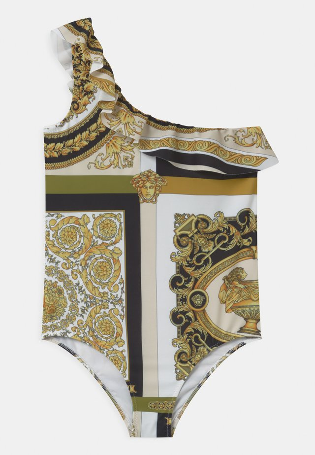BAROCCO MOSAIC - Costume da bagno - white/gold/kaki