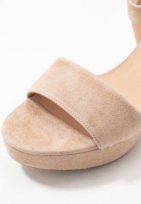 Unisa - NENES - Platform sandals - nude - 2
