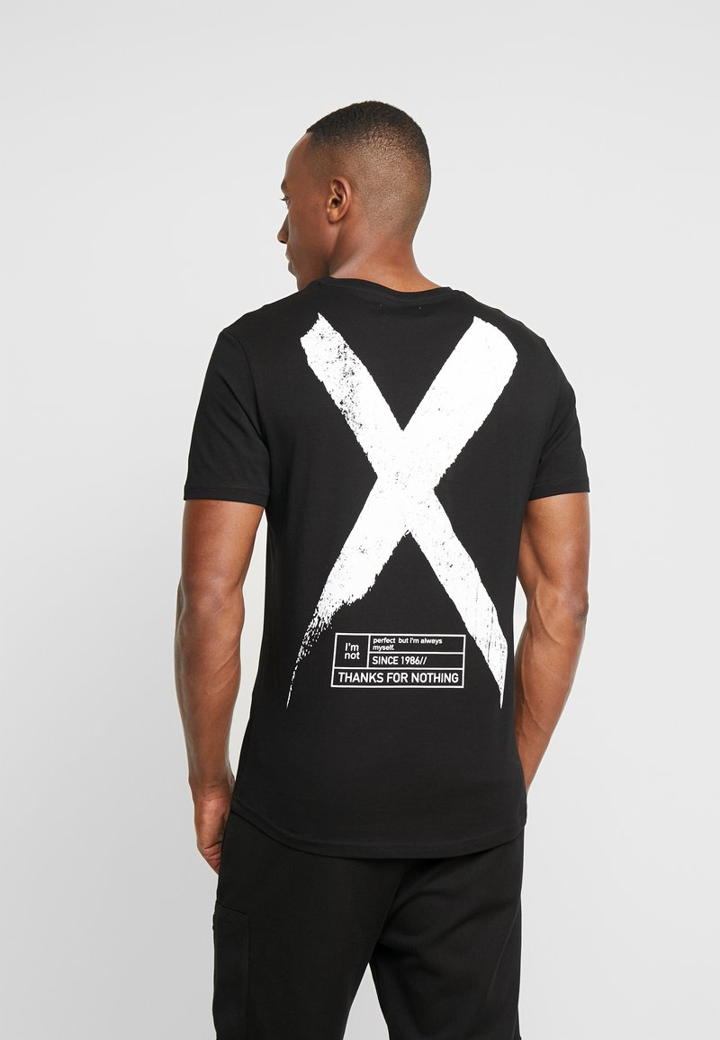 Pier One - T-shirt z nadrukiem - black