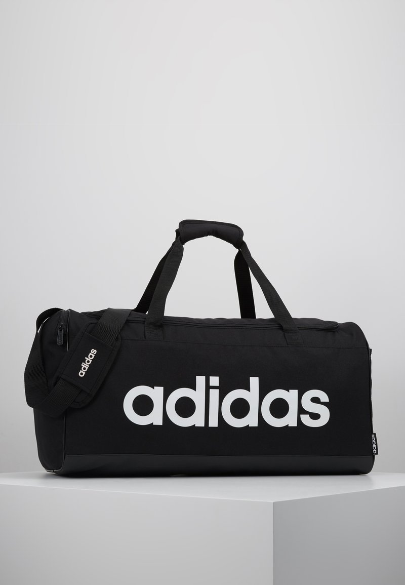 adidas Performance - LIN DUFFLE M - Sports bag - black/white