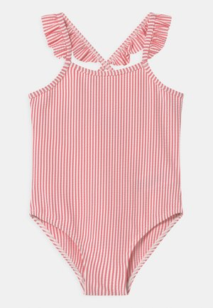 MAISSA CANDY STRIPE SWIMSUIT - Swimsuit - pink/off-white