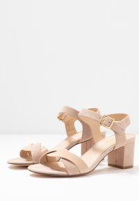 Anna Field - LEATHER HEELED SANDALS - Sandals - nude - 4