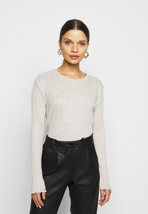 PCDALILAH CROPPED - Long sleeved top - fog