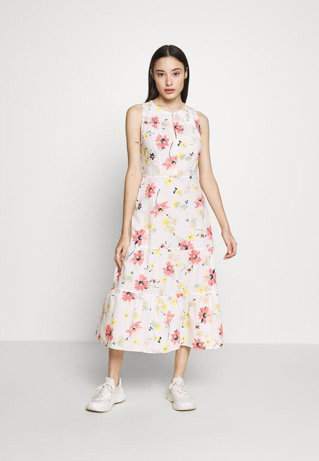 Day dress - white/floral print