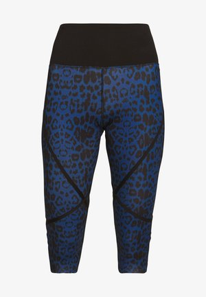 EXCLUSIVE TO ZALANDO PAINTED LEOPARD CROPPED LEGGINGS - Legginsy - blue