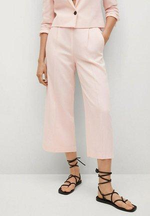 Spodnie materiałowe - pastel pink