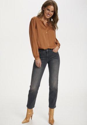 MOLLYSZ  - Flared Jeans - dark grey denim