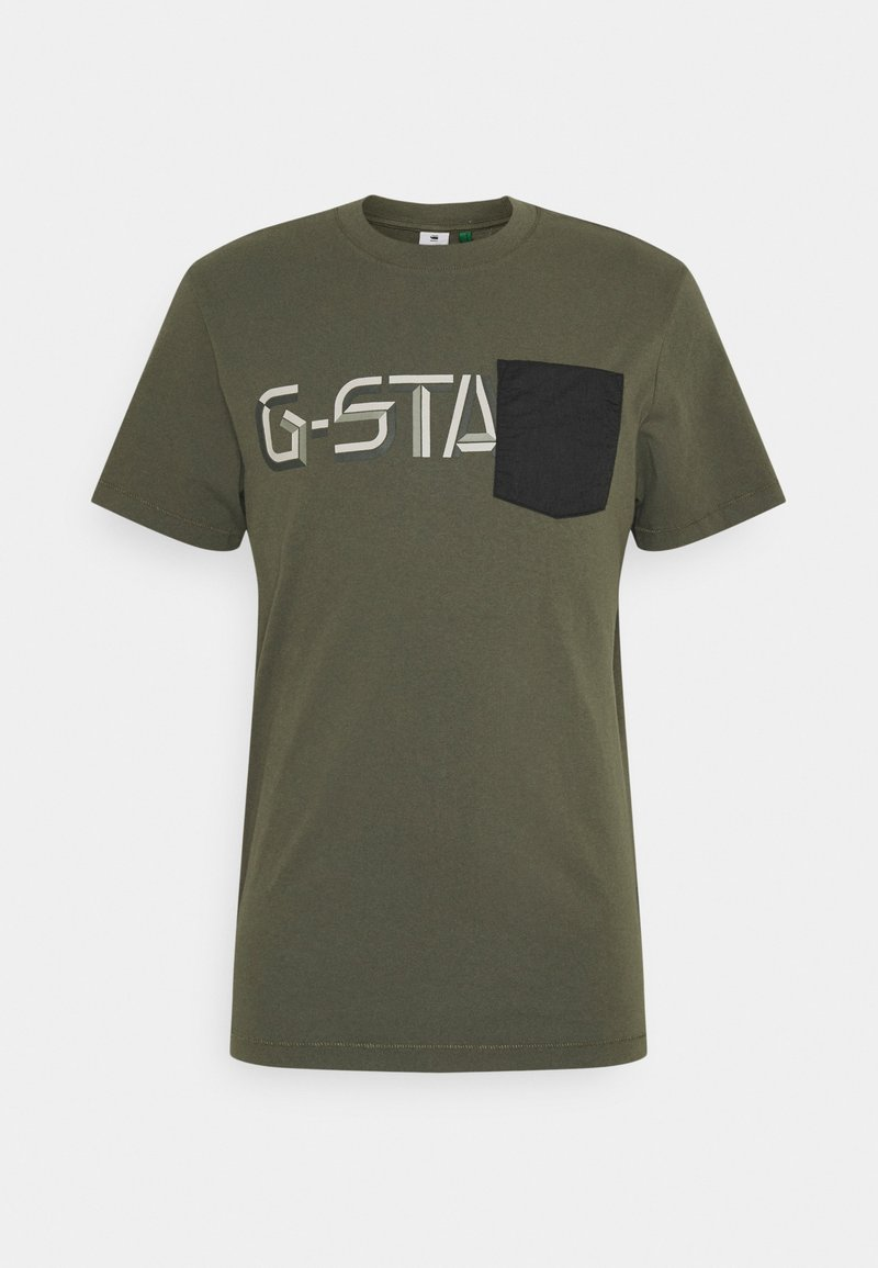 G-Star - RIPSTOP GRAPHIC  - T-shirt con stampa - olive