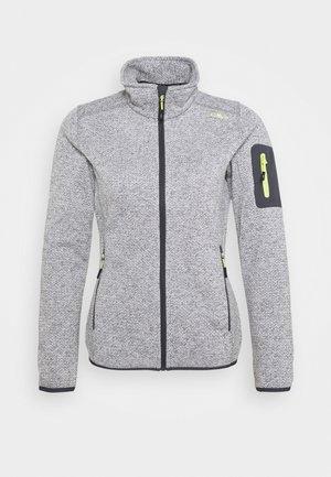 WOMAN JACKET - Fleece jacket - grey/bianco