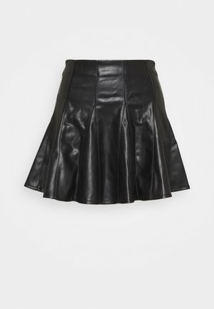 SKATER SKIRT - Spódnica mini - black
