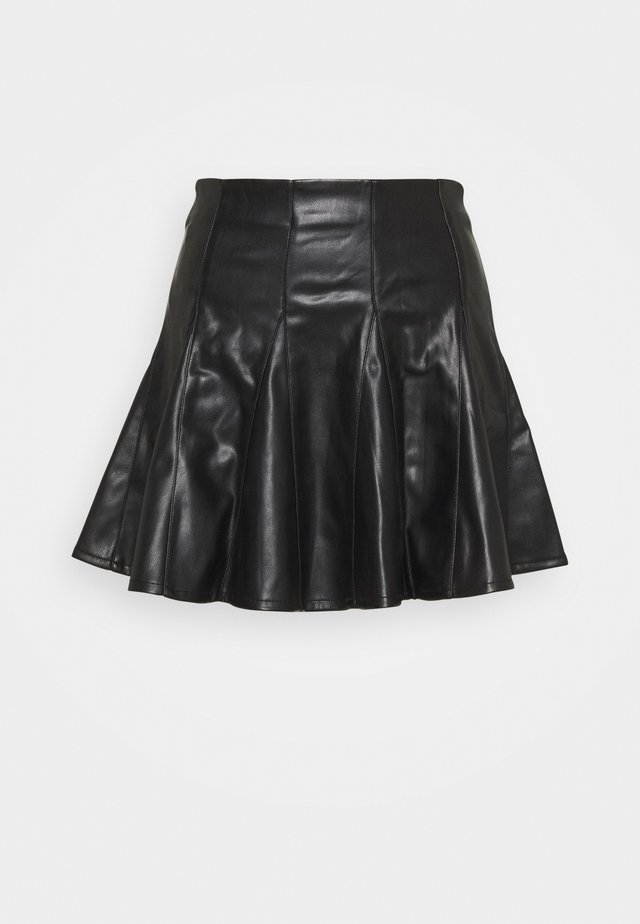 SKATER SKIRT - Mini skirt - black