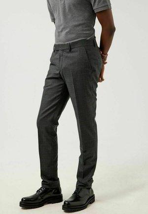 GRANT MOULINE CHECK - Trousers - majolica blue