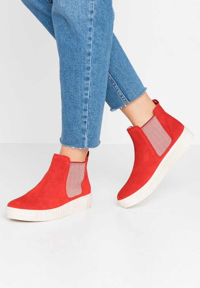 Ankle Boot - rot