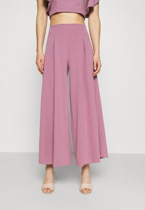 OLLI PLEATED CULLOTTE - Trousers - mauve pink