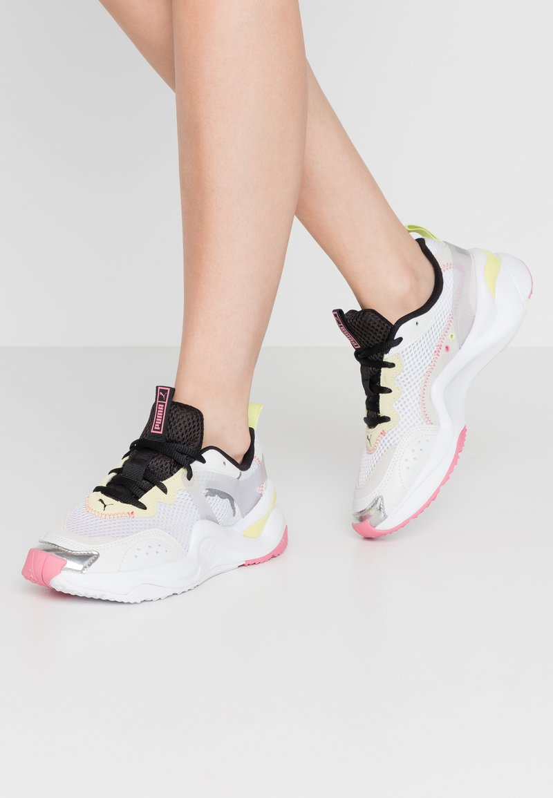 Puma - RISE CONTRAST  - Trainers - white/purple heather/sunny lime