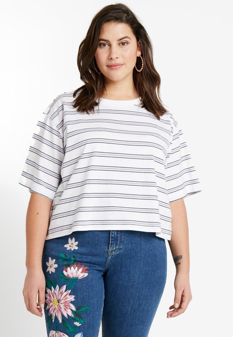 Damen LADIES MULTICOLOR STRIPE TEE - T-Shirt print