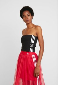 adidas Originals - 3STRIPES ADICOLOR TUBE - Top - black/white - 0