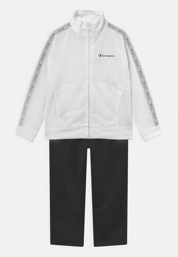 BACK TO SCHOOL TRACKSUITS FULL ZIP SET UNISEX - Trainingsanzug - white