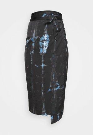 TIE DYE JASPRE SKIRT - Pencil skirt - navy