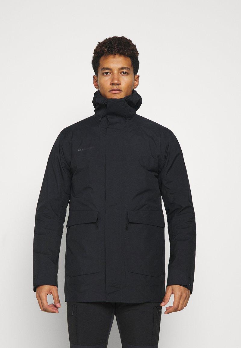 Mammut - ROSEG 3 IN 1 HOODED MEN - Hardshell jacket - black/black