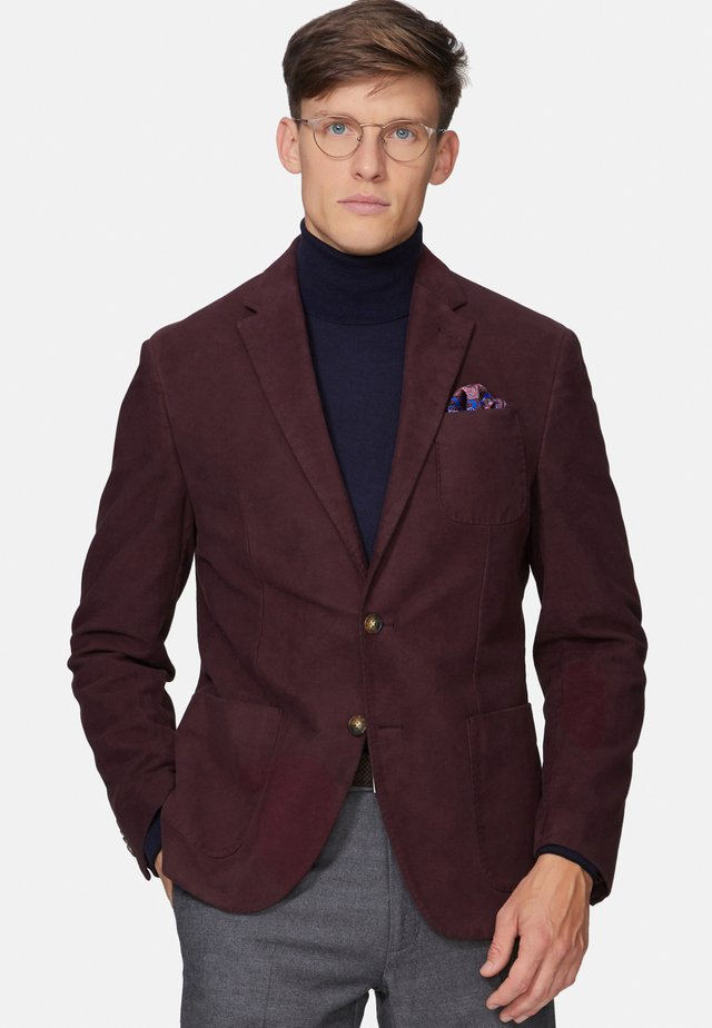 SLIM FIT PANTANI - Blazer jacket - burgundy